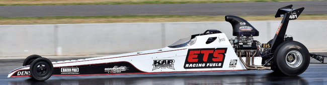 Jess Turner Dragster running on ETS leaded racing Fuel P14
