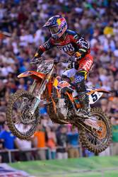 Red Bull KTM storm Podium with ETS Racing Fuel